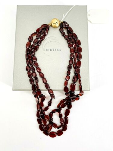 IRIDESSE Tiffany and Co. Brown Garnet Necklace 14K Closure