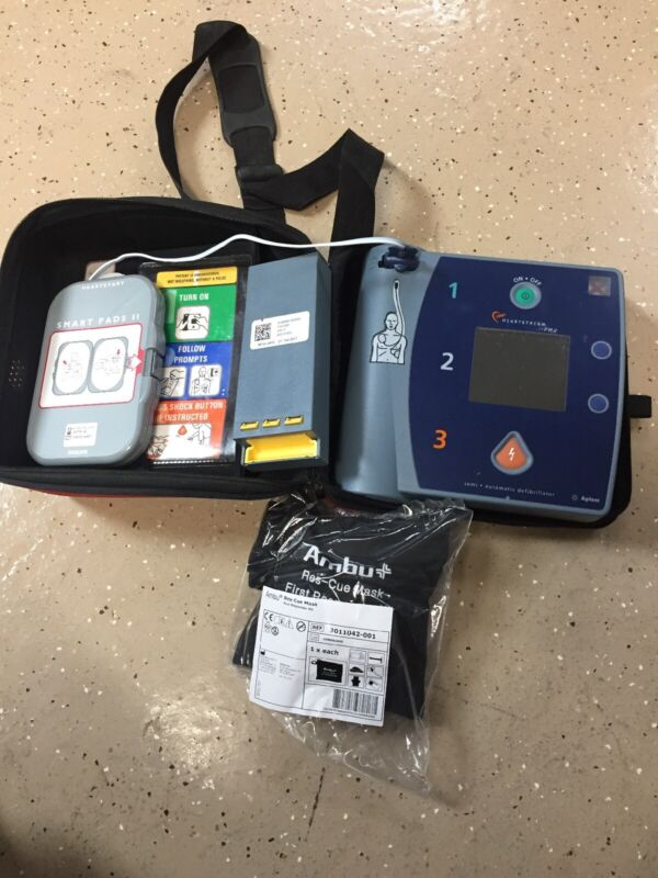 Philips HEARTSTART Agilent AED FR2 W/ PADS AND BATTERY Model M3861A