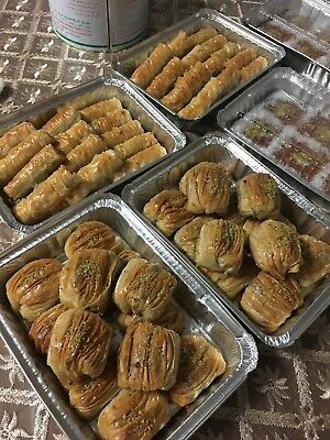 Baklava 24 Pieces Walnuts 2 Dozen Homemade Middle Eastern Dessert Baked On Order Middle Eastern Desserts