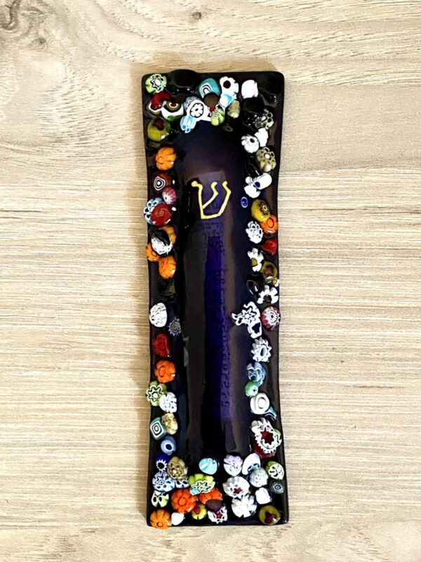 Mezuzah Murano Glass Non Kosher Parchment From Italy NEW