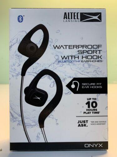 Altec Lansing Waterproof Sport w/ Hook Bluetooth Earphones-