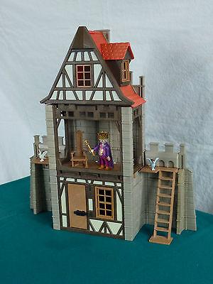 Playmobil Stadtmauer, Burgmauer, Fachwerkhaus, Wehrgang für Ritterburg (970)