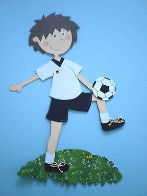 Fensterbild  - Junge - Fußball - Dekoration -Tonkarton!