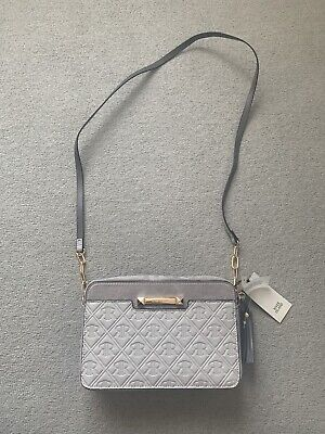 River Island grey boxy cross body bag BNWT