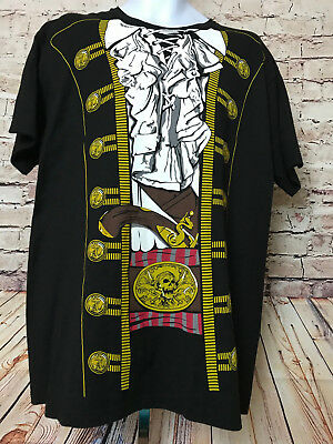 Captain Jack Sparrow Pirate Prince Costume Graphic T-Shirt Tee Size XL