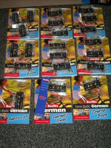 BERLITZ - Basic GERMAN Language Course Cassettes  NEW lot of 9