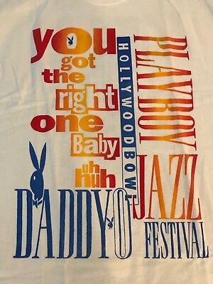 Vintage Playboy Jazz Festival Never Washed/Worn XL Tee Concert KACE T Shirt 90's