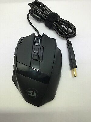 Redragon M801 Gaming Mouse Wired, Programmable 9 buttons, MMO RGB LED Mice, DPI,