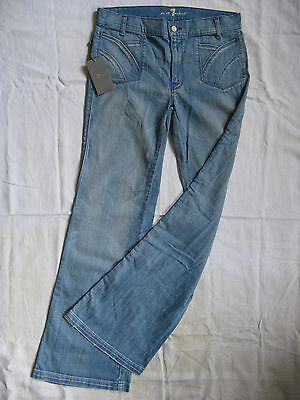 7 SEVEN for all MANkiND Damen Blue Jeans Stretch W27/L34 regular fit flare leg