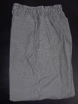 Chef Pants By Regent ... Black  White ... Size Medium