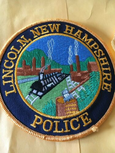 Lincoln New Hampshire Police Patch version 3
