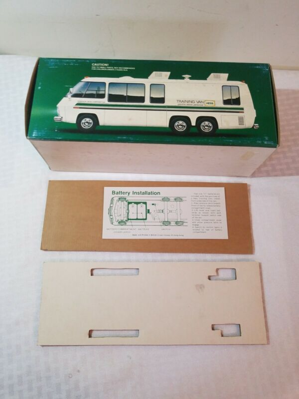 1978/80 HESS TRUCK TRAINING VAN ORIGINAL BOX and instructions BOX ONLY