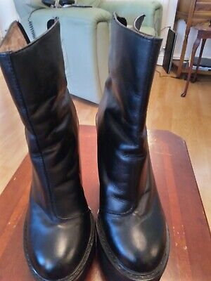 Jeffrey Campbell Black Leather Boots - The Mulders  -  Size 6 (8M) (£130+)