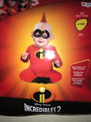 baby boys NEW NIP HALLOWEEN COSTUME INCREDIBLES 2 BABY JACK JACK 6/12 MONTH cute - Cute Baby Boy Halloween Costumes
