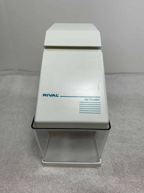 Vintage Electric Rival Ice Crusher Model 840 Removable Bin Included