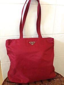 authentic Prada maroon shoulder shopper bag Perth Perth City Area Preview