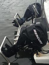 2 X 25HP 4 Stroke Mercury Outboards Kilaben Bay Lake Macquarie Area Preview
