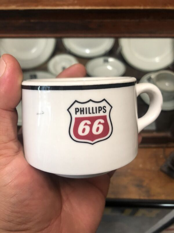 Original Phillips 66 China Coffee Cup Made In USA Drink Coasters & Pitcher
