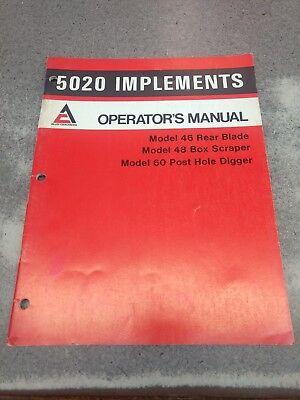 5020 Allis Chalmers Implements Operators Manual 72107274