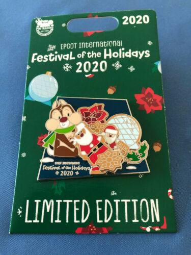 DALE Santa and Disney Pin  DVC Exclusive  EPCOT FESTIVAL Of HOLIDAYS 2020 LE