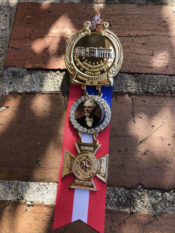 Jefferson Davis Presidential Library Confederate Civil War Medal Heavy Big