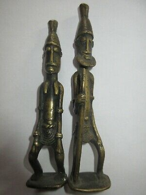 2 Warriors African Bronze; Tops 13,5 and 14,5 CM