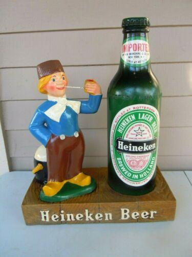 VINTAGE HEINEKEN DUTCH BOY & BEER BOTTLE ADVERTISING DISPLAY