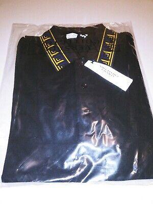 VERSACE COLLECTION Men Baroque Collar Print Black Polo Shirt NWT & Original Sz S