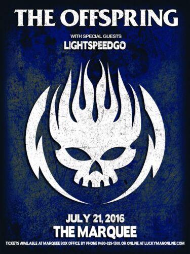 OFFSPRNG / LIGHTSPEEDGO 2016 PHOENIX CONCERT TOUR POSTER - Punk / Alt Rock Music