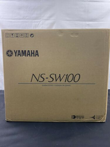 "Yamaha NS-SW100BL 10"" 100W Powered Subwoofer Black"