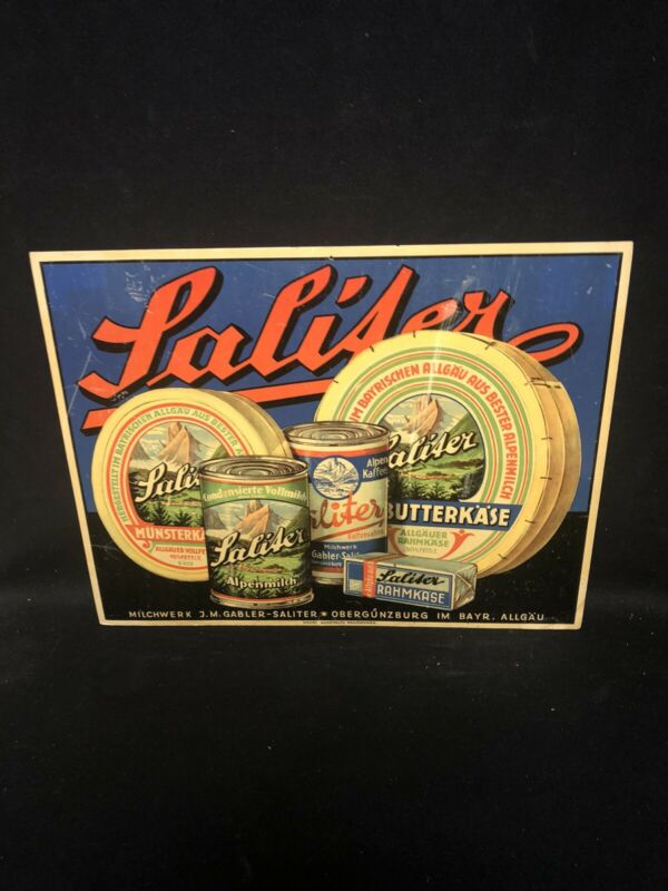 """1950's 16 1/2"""" Lalifer Cheese Sign"""