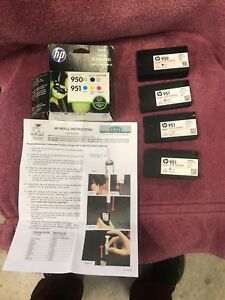 Refilled HP ink cartridges for 8600 series printer