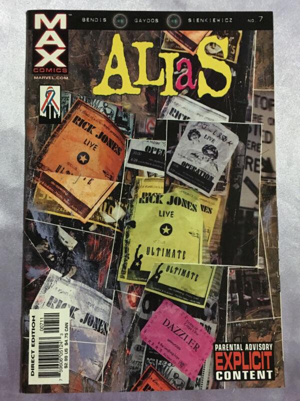 Alias #7~Marvel Comics Jessica Jones Bendis and David Mack cover~NM