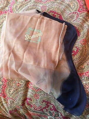 Vintage Domino 1st Qual Dupont Nylon Seamed Stockings Blue Foot 10