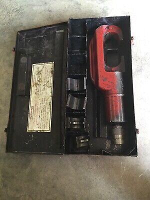 Burndy Y46 Hypress Remote Hyd. Power Op. Crimping Tool Case P1011 P-998 Dies