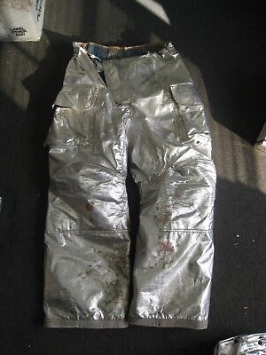 Janesville Lion Firefighter Proximity Turnout Pants Size 38l Aluminized
