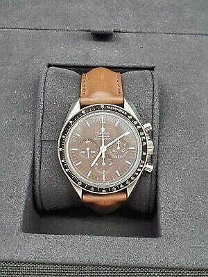 Omega 311.32.42.30.13.001 Speedmaster Moonwatch Men's Leather Watch Big Box Set
