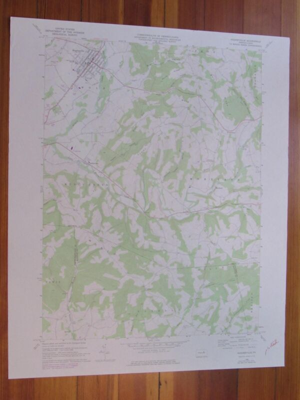 Hughesville Pennsylvania 1978 Original Vintage USGS Topo Map