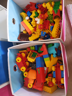 2 big boxes of duplo lego