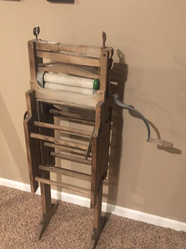 Antique 1898 Anchor Brand Folding Bench Wringer - Amish