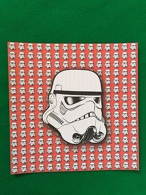 Red Storm Trooper Blotter Art Acid Free 900 Squares Perforated High Quality