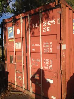 20' sea container in good condition.   Has side vents.   No holes