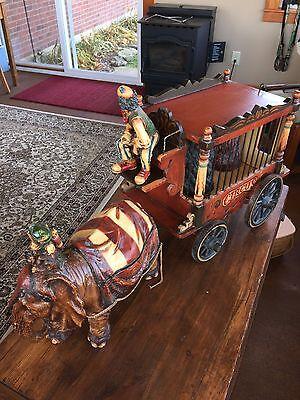 Vtg. BARNUM BAILEY Circus Wagon, Elephant, Monkey, Clown & 2 Bears