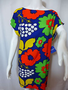 e729c7ad073ca Marimekko for Target Womens Tunic Dress Kukkatori Print Primary Floral M 8  10