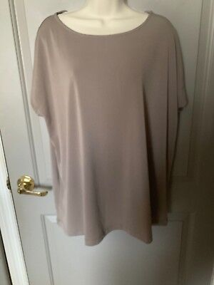 Worthington Women's Brown Short Sleeve Blouse Size 1X