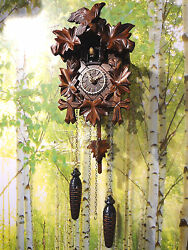 cuckoo clock black forest quartz german wood battery clock handmade new