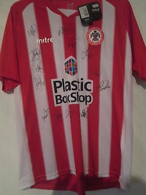 2016-2017 Squad Signed Accrington Stanley Home Football Shirt COA /44835 image