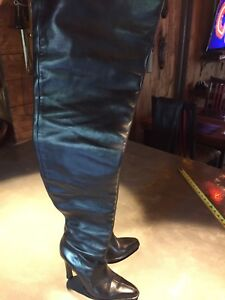 THIGH HIGH BOOTS 100% ALL LEATHER