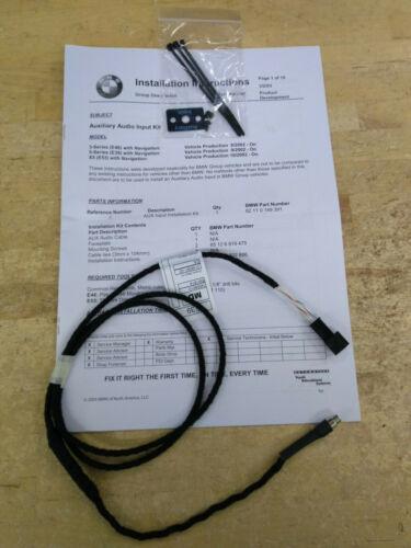 BMW Auxiliary Audio Input Kit 2003-2005 E53 X5, E46 3 Series Models 82110149391
