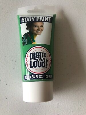 Green Body Paint Football Creat Out Loud. Costume Sports Party Festival Washable](Green Bodypaint)